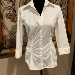 NY&C cinched button up shirt! Great under jacket